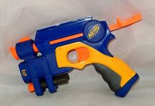"RARE BLUE NERF N-STRIKE EX-3 ""NITE FINDER"" PULL-BACK DART GUN LASER SIGHT PISTOL"