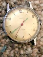 Vintage GB Made Mechanical Timex V-Conic Escapement Shockproof Gents Watch Head