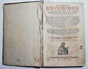 Cinquecentina Historia rerum in Oriente Turchia-Laonikos Chalkokondyles 1587