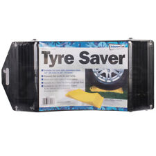 2 X Tyre Saver Round Wheel Stop Leveller Ramp Prevent Flat Spots Caravan Trailer