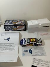 Jimmie Johnson Autographed #48 Lowe's / American Heroes 2007 Monte Carlo SS 1:24