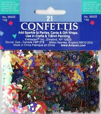6 PACK 21ST BIRTHDAY CONFETTI MULTI TABLE DECORATION IDEAL FOR PARTIES (MULTI)