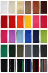 Gurtband 4 oder 12 Meter, 5 verschiedene breiten, 1,4 mm dick in 25 Farben