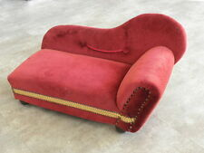 Vintage Doll Tootsie Toy Sofa Sofa Armchair. Chaise Lounge Chairs vtg