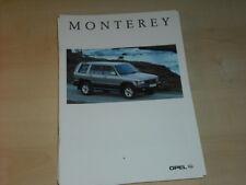 31841) Opel Monterey Prospekt 1995