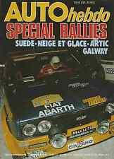 AUTO HEBDO n°50 du 17 Février 1977 SPECIAL RALLIES