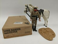 VTG 1970's Gabriel Toy Lone Ranger & Silver Cowboy Horse Figure Play Set in Box