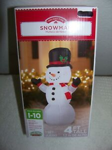 CHRISTMAS SNOWMAN INFLATABLE 4' TALL NIB