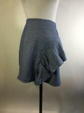 Topshop Womens Blue White Gingham Ruffle Mini Skirt Size 10 New $50 27J02LBLE