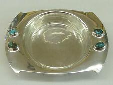 Archibald Knox Art Nouveau cymric piatto in Argento Vetro Turchese Liberty & Co