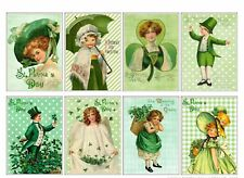 8 Vintage Retro St Patrick's Day Hang Tags Scrapbooking Paper Crafts (280)