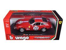 Bburago 1:24 W/B Ferrari Racing 365 Gtb4 Competizione 1A Serie Diecast Car 26303