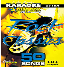 Karaoke CDG Chartbuster 5110 Rock Classics 3 Disc Set In Case includes Song List