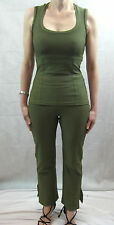 Empire Rose Size 8 Two Piece Olive Top & Pant Suit
