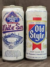 Lot of 3 Old Style Beer Cans Chicago White Sox Baseball Comiskey Park