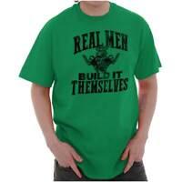 Real Men Build Themselves Mechanic Garage Mens TShirts T Shirts Tees Tshirt