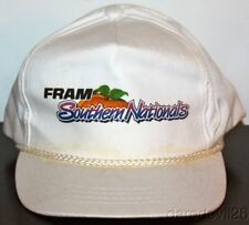 Vintage 1990's Southern Nationals Atlanta Dragway White NHRA Adjustable Hat