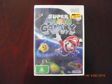 SUPER MARIO GALAXY – NINTENDO Wii GAME – COMPLETE with booklet-Free Post