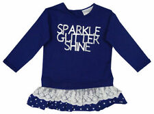 Vêtements tuniques bleu pour fille de 2 à 16 ans en 100% coton