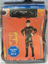 Brand New Boy's Complete Halloween Costume Army Soldier Camo Military Size 4-6X