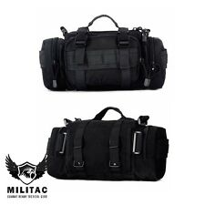 Black Tactical Molle Waist Pack, Military Army Bum Bag Fanny Pack, Multi Pocket