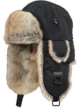 2020 NEW ADULT BARTS KAMIKAZE TRAPPER BOMBER BLACK FAUX FUR LINED WARM HAT