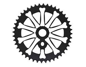 "Bicycle Sprocket 44T 1/2"" x 1/8"" Black/White Chopper Bike   Lowrider Cruiser"
