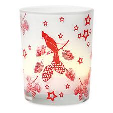 TOUT NOUVEAU VERRE Porte-bougie Cadeau de Noël / poche remplissage Rouge/Blanc