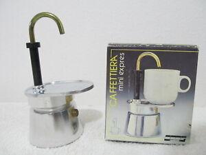 CAFFETTIERA  Mini Express Tazza Hob Top Coffee Espresso Maker w/ Box - Vintage