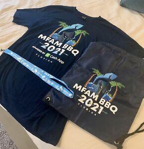 MFAM NICK MERCS BBQ 2021 Large T Shirt, Lanyard, Bag Set