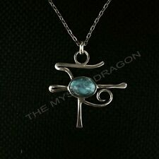 Jimmy Page mysterious pendant replica in rhodinated sterling silver!