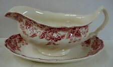 Johnson Brothers STRAWBERRY FAIR Gravy Boat with Underplate