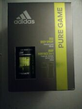 Adidas Pure Game 2-Pcs Gift Set, Deo Body Spray & Body Hair Face 3 in 1