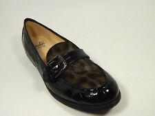 New $265 Amalfi Toscana Comfort Embossed Leather Calf Hair Loafers Flats 5 M