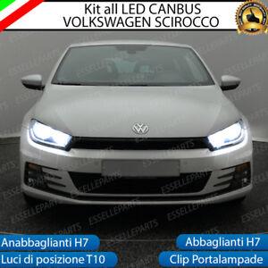 KIT LED VW SCIROCCO ANABBAGLIANTI + ABBAGLIANTI + LUCI DI POSIZIONE CANBUS 3.0