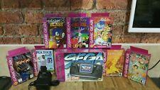 Sega Game Gear Majesco Black Handheld System Complete in Box + Games Package.