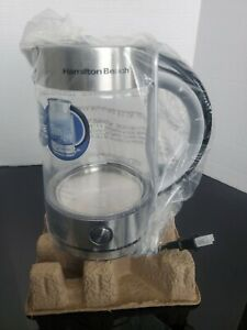 Hamilton Beach 1.7 L Modern Glass Electric Kettle Hot Water & Tea Maker New