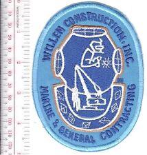 SCUBA Hard Hat Diving Massachusets Willem Construction, Inc Natick, MA on blue