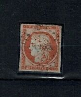 "FRANCE STAMP TIMBRE YVERT 5d "" CERES 40c ORANGE 4 RETOUCHE"" OBLITERE A VOIR W062"