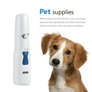 Electric Pet Dog Cat Nail Trimmer Paws Safe Claw Grooming&Grinder Clipper Tools