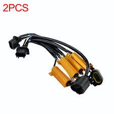 2X H13 9008 HID LED Kit Error Free Load Resistor Decoders harness Adapter