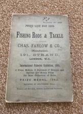 Rare 1889 Farlow Fishing / Angling Reel / Tackle Catalogue / Price List