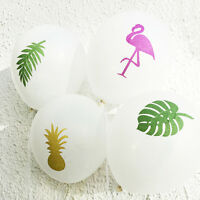 "12"" Flamingo Pearl Latex Balloons Summer Beach Pool Birthday Party Decor"
