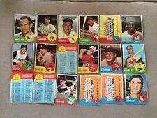 1963 TOPPS COMMONS PARTIAL SET LOT COMPLETE YOUR SET CHOOSE $1 EACH   G-VG-EX