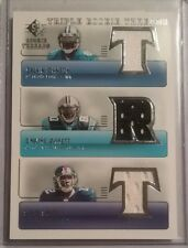 2007 SP Rookie Threads Triple CALVIN JOHNSON DWAYNE JARRETT STEVE SMITH Jerseys