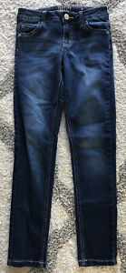 Blue Girls Justice Slim Mid-Rise Super Skinny Jeans Size 12
