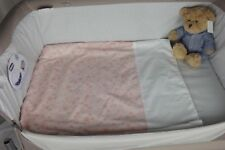 Moses Basket Light Weight Quilt Coverlet Soft Fleece Backed Lining / Star Dust