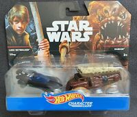 Hot Wheels Star Wars Character Cars Twin/2-Pack LUKE SKYWALKER VS RANCOR/RARE