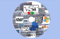 WINDOWS 64-BIT 16GB PRO VST / VSTI FX & INSTRUMENTS PLUGINS PACK VOLUME 1