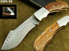 ALISTAR SUPERB HANDMADE DAMASCUS STEEL LOCK BACK FOLDING HUNTING KNIFE (4304-6